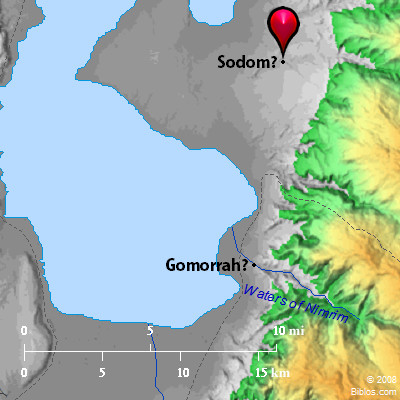 Image result for location of sodom and gomorrah