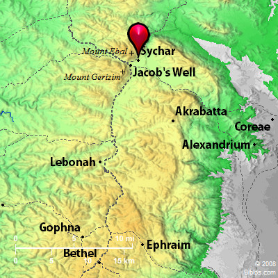 Bible Map: Sychar on west bank map, mount carmel map, kingdom of judah, israeli settlement, sinai peninsula map, the decapolis map, sea of galilee, iudaea province map, laodicean church map, judea and samaria, dead sea map, aelia capitolina map, philistia map, tell beit mirsim map, old testament holy land map, the whole state map, mount gerizim, damascus map, jordan river map, jezreel valley map, antonia fortress map, middle east map, tyre map, jerusalem map,