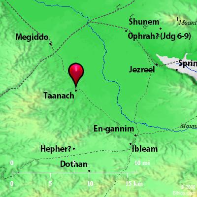 Bible Map: Taanach