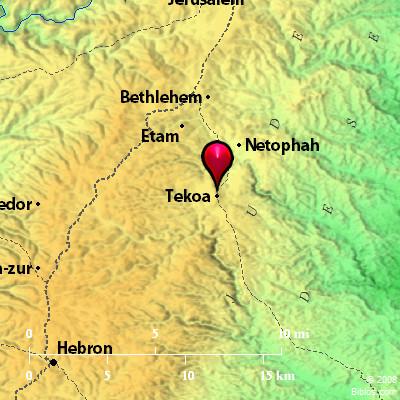 Bible Map: Tekoa on