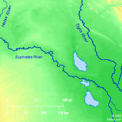 Bible Map: Tigris-Euphrates Region