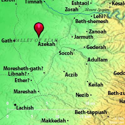 Bible Map Valley of Elah