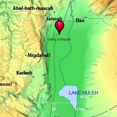 Bible Map Valley Of Mizpeh
