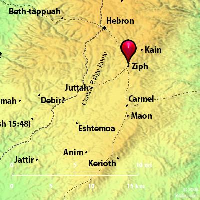 Bible Map: Ziph