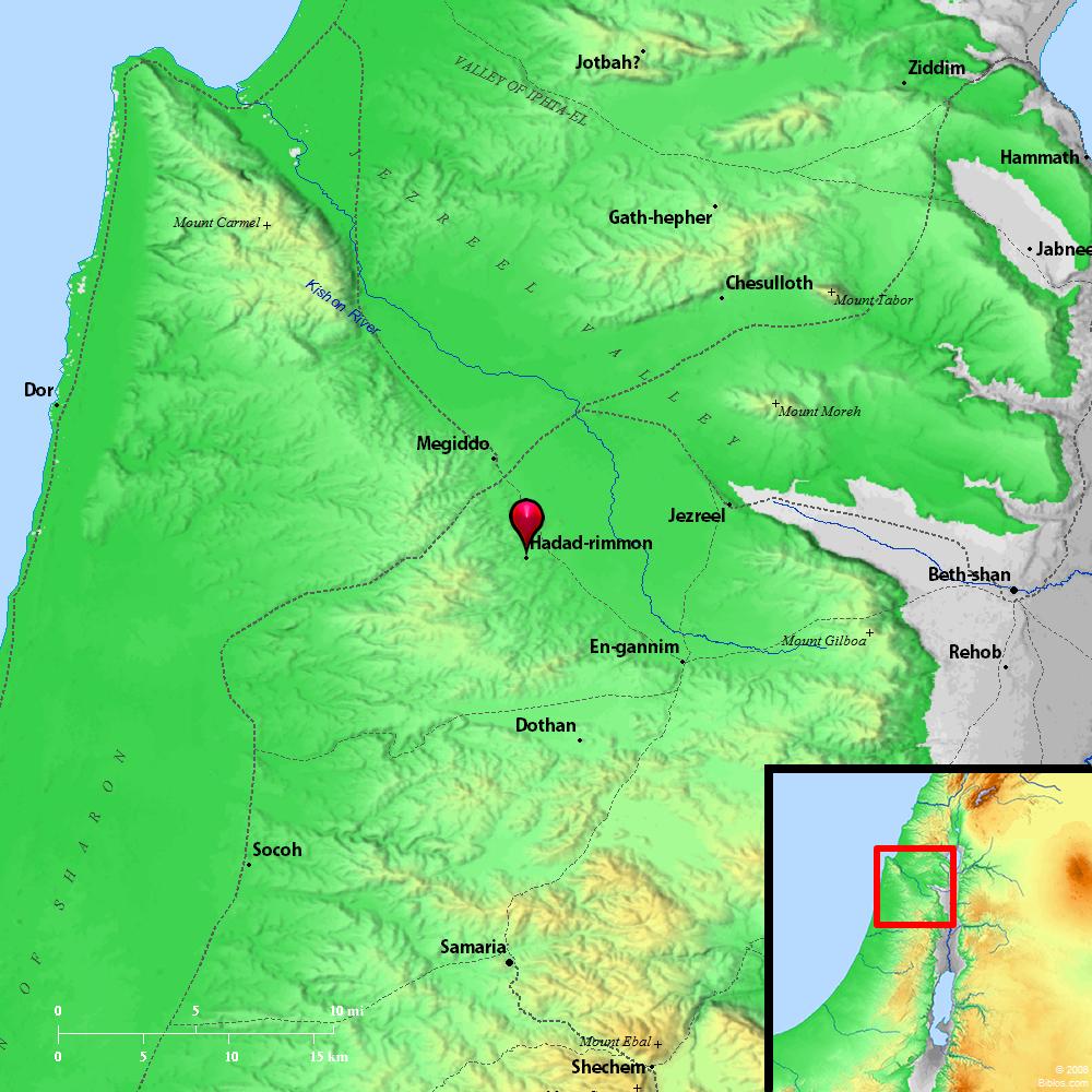 Bible Map: Hadad-rimmon