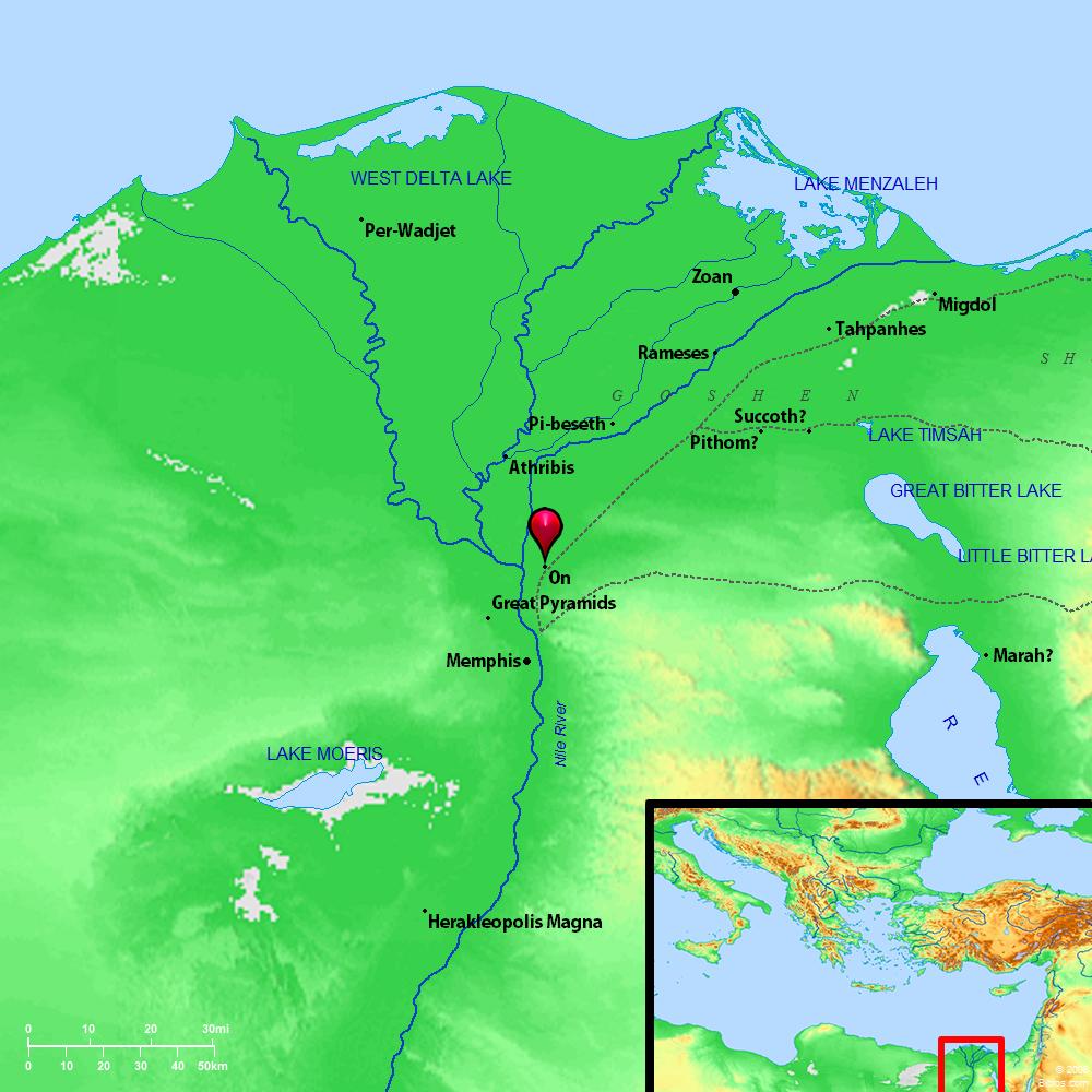 Beth Shemesh Bible Maps: Bible Map: Heliopolis (On