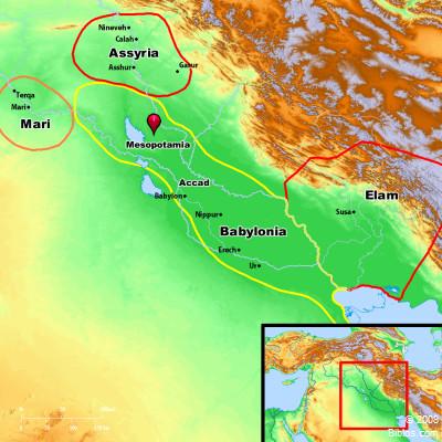 Bible Map Mesopotamia