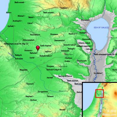 Bible Map Nahor Nahalal